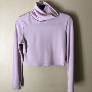 Boohoo Lavender Turtleneck Crop Top